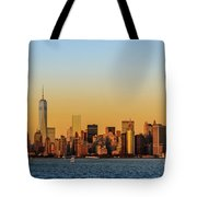 Ny Skyline At Sunset Tote Bag