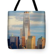 Ny Sundown One World Trade  Tote Bag