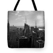 Ny Times Skyline Bw Tote Bag