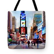 Ny Times Square Impressions IIi Tote Bag