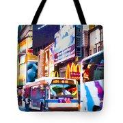 Ny Times Square Impressions Iv Tote Bag