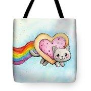 Nyan Cat Valentine Heart Tote Bag