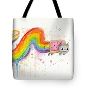 Nyan Cat Watercolor Tote Bag