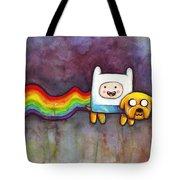 Nyan Time Tote Bag by Olga Shvartsur