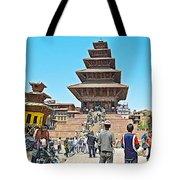 Nyatapola-tallest Pagoda In Nepal-in  Tote Bag
