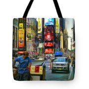 Nyc Bike Taxi Tote Bag by Jeff Breiman