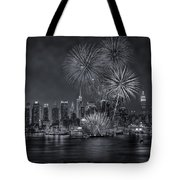 Nyc Celebrate Fleet Week Bw Tote Bag
