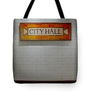 Nyc City Hall Subway Station Tote Bag