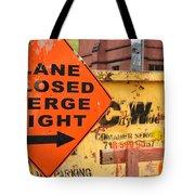 Nyc Construction Graffiti  Tote Bag
