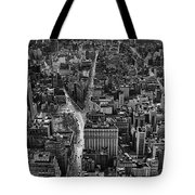 Nyc Downtown - Black And White Tote Bag