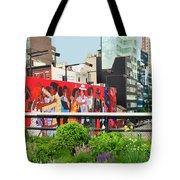 Nyc-high Line Billboard Art Tote Bag