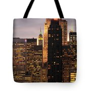 Nyc Midtown Golden Lights Tote Bag