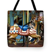 Nyc - Old Glory Pony Tote Bag by Richard Reeve