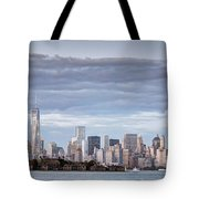 Nyc On A Cloudy Day Tote Bag