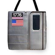Nyc Subway Car 1776 Tote Bag by Jannis Werner