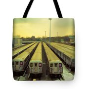 Nyc Subway Cars Tote Bag