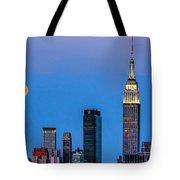 Nyc Under The Supermoon Tote Bag
