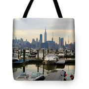 Nyc View From Lincoln Harbor Weehawkin Nj Tote Bag