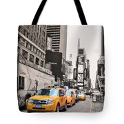 Nyc Yellow Cabs Tote Bag
