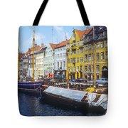 Nyhavn Boat Docks Tote Bag