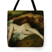 Nymph And Satyr Tote Bag