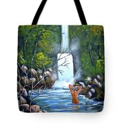 Nymph In Pool Tote Bag