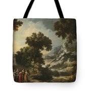 Nymphs Turning The Apulian Shepherd Into An Olive Tree Tote Bag