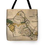 Oahu Sovereign Hawaii Map  1881 Tote Bag