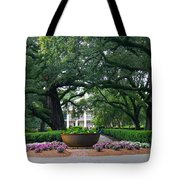 Oak Alley Courtyard Tote Bag