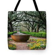 Oak Alley Landscape In Vacherie Louisiana Tote Bag