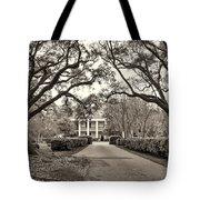 Oak Alley Rear Entrance Sepia Tote Bag