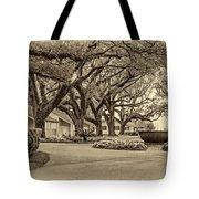 Oak Alley Slave Quarters Sepia Tote Bag