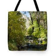 Oak Creek Canyon Creek Arizona Tote Bag