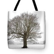 Oak Tree And Farm House Tote Bag