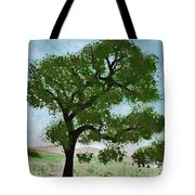 Oak Tree Landscape Tote Bag