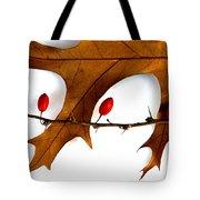 Oak With Berries Tote Bag