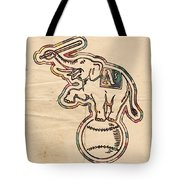 Oakland Athletics Poster Art Tote Bag