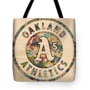 Oakland Athletics Poster Vintage Tote Bag