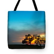 Oaks And Sunset 2 Tote Bag by Terry Garvin