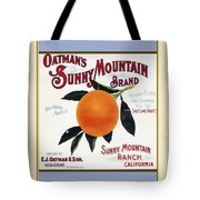 Oatmans Sunny Mountain Brand Oranges Vertical Tote Bag