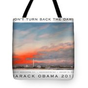 Obama Campaign Poster 2012 Tote Bag by William Van Doren