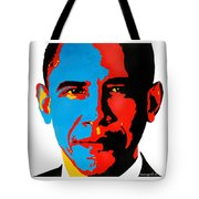Obama Gouached Tote Bag by Nancy Mergybrower