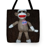 Obama Sock Monkey Tote Bag