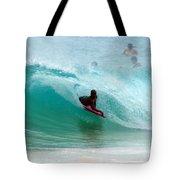 Obama's Boyhood Bodysurfing Beach Tote Bag