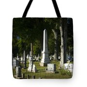 Obelisk And Headstones Tote Bag