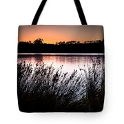 Obidos Lagoon Sunrise Tote Bag