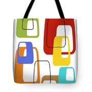 Oblongs On White 3 Tote Bag