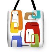 Oblongs On White 4 Tote Bag