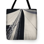 Obsession Sails 2 Black And White Tote Bag