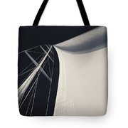 Obsession Sails 3 Black And White Tote Bag